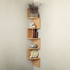 Danya B Large Laminated Beech Veneer Corner Wall Mount Shelf - XF11035BH