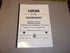 LUCAS WORKSHOP INSTRUCTION MANUAL FOR MAG DYNO MO1L MN2L GENERATOR E3L E3N LUC7
