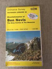 1988 Ordnance Survey Outdoor Leisure Map 32 Ben Nevis On Water Resistant Paper
