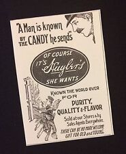 Small 1906 Huyler's Huylers Candy Ad Magazine Advertisement Delivery Boy Wings