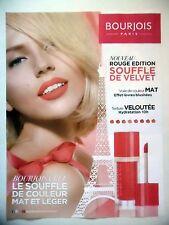 PUBLICITE-ADVERTISING :  BOURJOIS Rouge Edition Souffle Velvet  2016 Tour Eiffel