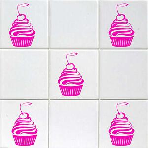 20 Set Cherry CUPCAKE wall stickers, Kitchen wall stickers, Nursery decor, decal