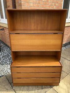 Vintage Mid Century Turnidge Wooden Dresser Sideboard with Three Drawers