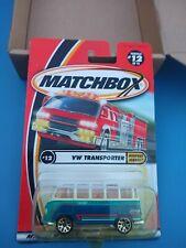 matchbox 1/64 diecast mfg. 2000 v.w. transporter #12/75 new in package