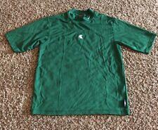 Nike Michigan State Mock Turtleneck Shirt Green Mens Size Small S