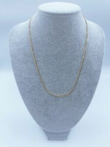 """9ct Gold Figaro Chain Necklace For Men & Women - 20"""", 3mm, 4g"""