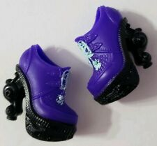 MONSTER HIGH DOLL SHOES 13 WISHES TWYLA PURPLE & BLACK HEELS SMALL SHORT