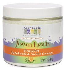 Aura Cacia Aromatherapy Foam Bath, Peaceful Patchouli and Sweet Orange, 14 ounce