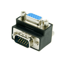 Down 90 Degree Right Angled VGA Male To Female Extension Adapter RGB