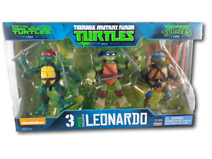 Teenage Mutant Ninja Turtles Leonardo Exclusive 3 pack of figures