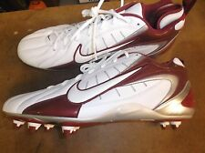 New Nike Super Speed D white/maroon low cut cleats Mens 15 lacrosse #6