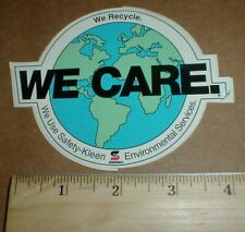 Vintage Safety Kleen environmental We Care NASCAR racing shop sticker decal