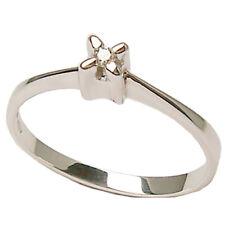 Anillo compromiso de oro blanco 18 ct solitario con diamante talla brillante