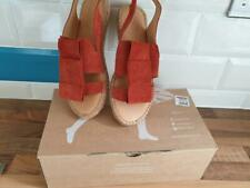 NAGUISA Famara Handmade Espadrilles sandals red leather Euro 37 / UK4 Brand new