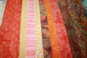 Hoffman Rainbow Batik Orange & Yellow Cotton Fabric Your Choice BTHY