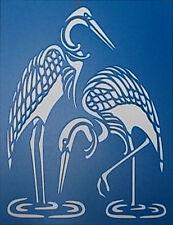Scrapbooking - STENCILS TEMPLATES MASKS SHEET - Cranes Stencil