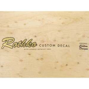 Custom Waterslide Guitar Headstock Decal - '54 Style, Choose Your Text