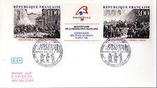 2538a+ FDC ENVELOPPE  1er JOUR  CEF  BICENTENAIRE DE LA REVOLUTION FRANCAISE