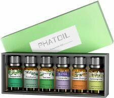 PHATOIL Essential Oil 6/Set Aromatherapy Gift Pack 100% Pure Oils for Diffusers