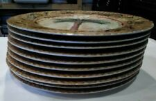 "Set of 10 Merritt Design Date Palm 8-1/4"" Salad Plates Bin 1141"