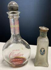 Vintage Antique Cologne Perfume Lot of 2 bottles. Avon Cotillion & Garda Watkins