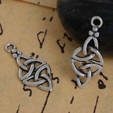 3 Antiksilber Charms Anhänger für Halskette Keltische Knote 27x11mm PD