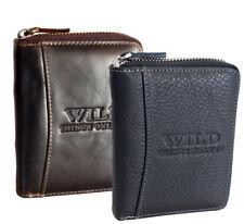 RFID Herren Leder Geldbörse Portemonnaie für Männer Brieftasche Reißverschluss
