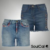 Ladies Branded SoulCal Summer Stylish Embroidered Shorts Bottoms Size 8-16