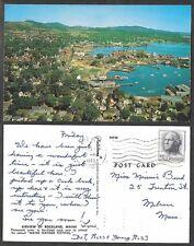 1963 Maine Postcard - Rockland - Aerial View