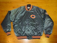 Mens Xl Chicago Bears Chalkline Satin Ditka Jacket Coat 1986 Xlarge Mint Retro