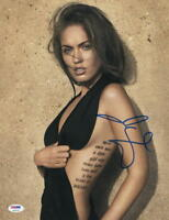 HOT SEXY MEGAN FOX SIGNED 11X14 PHOTO AUTHENTIC AUTOGRAPH PROOF PSA COA F