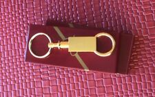 ONE GOLD PLATED PULL APART VALLET STRONG KEYCHAIN KEY RING NEW IN BOX