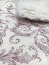 NEW Versace Baby Girl Pink Scroll Real Fur Blanket Throw Logo Italy