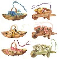 150 Wheelbarrows & Trugs Gift Tags with Daisies, Roses, Pansies & Snowdrops