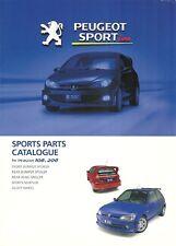 Peugeot Sports parte Catalouge para los modelos 106 y 206.