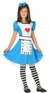 Girls Alice in Wonderland Work Book Day Character Fancy Dress Costume Outfit