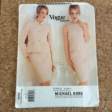 Vtg 90s Vogue Michael Kors Jacket Shell Top Skirt Pattern 1826 Uncut Size 6 8 10