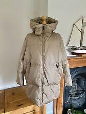 Zara Camel Beige Oversized Down Feather Hooded Coat M UK12 # P24