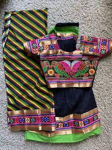 Indian Chaniya Choli Navratri FULLY Stitched Ghagra Lengha Dupatta Bollywood