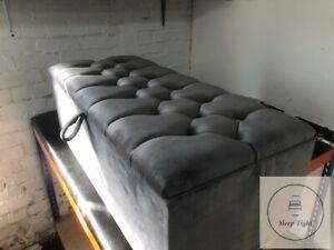 Storage Box   Luxury Stool - Ottoman Box Plush Soft Velvet