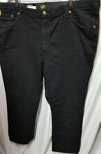 Lee Men's Big-Tall Premium Custom Fit Relaxed Straight Leg Jean,Black,46W x 32L