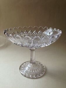 Lovely Vintage Pressed Glass Tazza