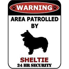 Warning 24hr by Sheltie 24 Hour Security Dog Sign Sp623