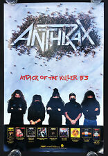 Anthrax Attack of the Killer B's 1991 promo Poster!!!