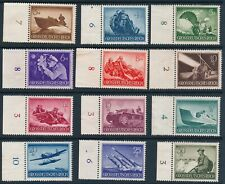 Lot Stamp Germany Mi 873-82, 84-5 1944 WWII 3rd Reich Wehrmacht Selection CL MNG