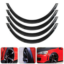 4pc Universal Car Flexible Wheel Fender Flares Tire Eyebrow Kit W/ Polyurethane