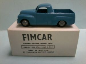 FIMCAR white metal hand made in Australia of a 1948 HOLDEN utility in Light Blue