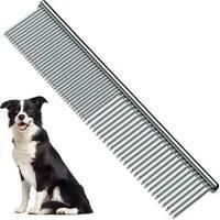 Stainless Steel Teeth Metal Comb Brush Pet Cat Dog Hair Grooming Trimmer