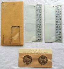 Franklin Mint 1966-1967 History of the United States Bronze Coins NEVER OPEN