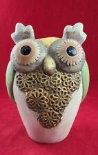Bisque Boho Owl Planter